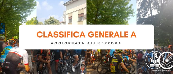 Classifiche Generali A | Aggiornate all'8^Prova